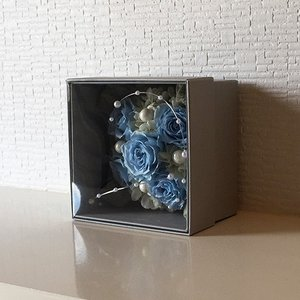 フラワーボックスブルーインテリアとして贈り物/プレゼント/父の日送料無料 lpm0017 イメージ4
