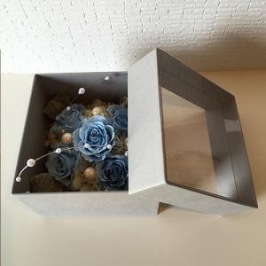 フラワーボックスブルーインテリアとして贈り物/プレゼント/父の日送料無料 lpm0017 イメージ6