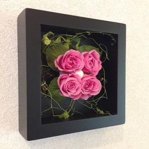 プリザーブドフラワーの壁掛けフレームピンクはお部屋のインテリアに、贈り物/送料無料 lpm0020 イメージ3