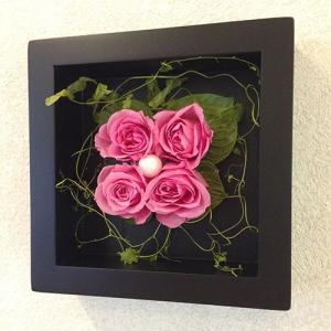 プリザーブドフラワーの壁掛けフレームピンクはお部屋のインテリアに、贈り物/送料無料 lpm0020 イメージ4