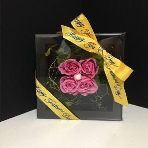 プリザーブドフラワーの壁掛けフレームピンクはお部屋のインテリアに、贈り物/送料無料 lpm0020 イメージ5