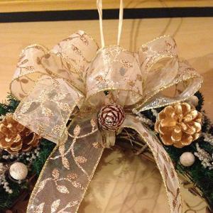 クリスマスリースホワイト壁掛け lpm0029 イメージ3