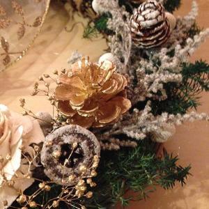 クリスマスリースホワイト壁掛け lpm0029 イメージ4
