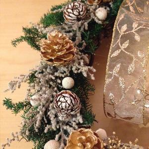 クリスマスリースホワイト壁掛け lpm0029 イメージ5