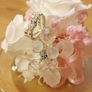 ハートを持ったプリザーブドフラワーのガラスドームエンジェルローズ結婚祝い/贈り物/プレゼント送料無料 lpm0031 イメージ5