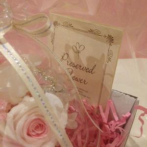 ハートを持ったプリザーブドフラワーのガラスドームエンジェルローズ結婚祝い/贈り物/プレゼント送料無料 lpm0031 イメージ6