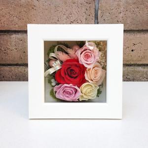 結婚祝い・お祝いにプリザーブドフラワー壁掛けフレーム母の日 プリザーブドフラワー壁掛けフレームの贈り物(M)lpm0032 イメージ1