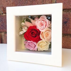 結婚祝い・お祝いにプリザーブドフラワー壁掛けフレーム母の日 プリザーブドフラワー壁掛けフレームの贈り物(M)lpm0032 イメージ2