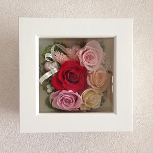 結婚祝い・お祝いにプリザーブドフラワー壁掛けフレーム母の日 プリザーブドフラワー壁掛けフレームの贈り物(M)lpm0032 イメージ5