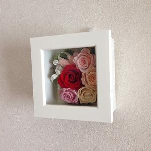 結婚祝い・お祝いにプリザーブドフラワー壁掛けフレーム母の日 プリザーブドフラワー壁掛けフレームの贈り物(M)lpm0032 イメージ6