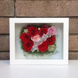 母の日 誕生日 結婚祝い 花 ギフト プレゼント 壁掛け 額 木製 フレーム プリザーブドフラワー(L) lpm0033 イメージ1
