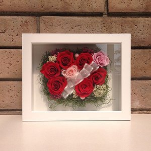 母の日 誕生日 結婚祝い 花 ギフト プレゼント 壁掛け 額 木製 フレーム プリザーブドフラワー(L) lpm0033 イメージ5