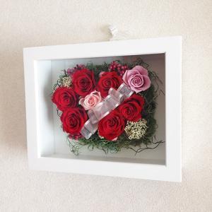 母の日 誕生日 結婚祝い 花 ギフト プレゼント 壁掛け 額 木製 フレーム プリザーブドフラワー(L) lpm0033 イメージ6