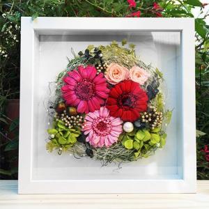 プリザーブドフラワー 壁掛け 誕生日 結婚祝い 花 ギフト プレゼント 額 木製 フレーム ガーベラ lpm0034 イメージ5