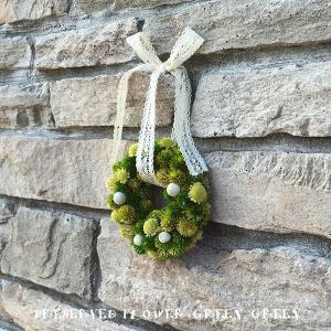 プリザーブドフラワー壁掛け クリスマス リース プレゼント 誕生日 グリーングリーン lpm0037 イメージ2
