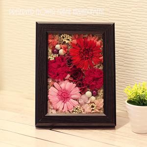 プリザのアレンジフレーム『赤いお花の物語」壁掛け、立て掛け用 lpm0076 イメージ3