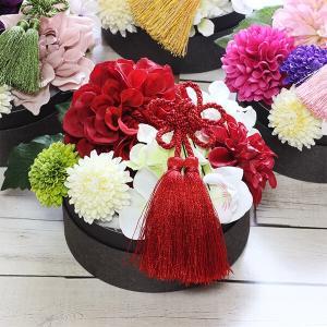 和スタイル赤いダリアの髪飾り 正月 成人式 和装 浴衣  lpm0092 イメージ2