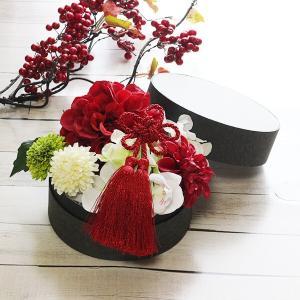和スタイル赤いダリアの髪飾り 正月 成人式 和装 浴衣  lpm0092 イメージ3