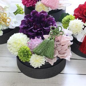 和スタイル紫のダリアの髪飾り 正月 成人式 和装 浴衣 lpm0093 イメージ4
