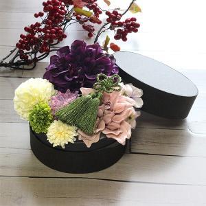 和スタイル紫のダリアの髪飾り 正月 成人式 和装 浴衣 lpm0093 イメージ5