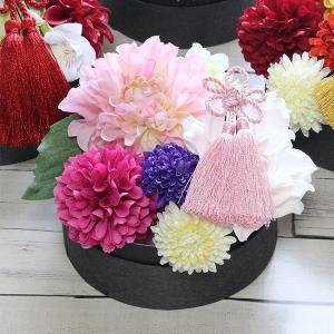 和スタイル桃色のダリアの髪飾り 正月 成人式 和装 浴衣 lpm0094 イメージ4