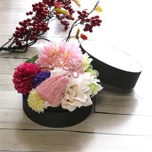 和スタイル桃色のダリアの髪飾り 正月 成人式 和装 浴衣 lpm0094 イメージ5