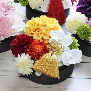 和スタイル黄色のダリアの髪飾り 正月 成人式 和装 浴衣 lpm0095 イメージ4
