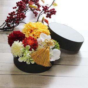 和スタイル黄色のダリアの髪飾り 正月 成人式 和装 浴衣 lpm0095 イメージ5