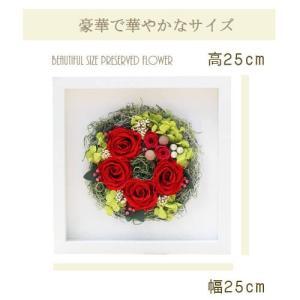 赤い上品なローズのプリザギフト壁掛け lpm0096 イメージ2