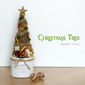 プリザーブドフラワー ホワイトポットのクリスマスツリー lpm0104 イメージ1