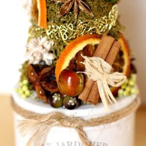 プリザーブドフラワー ホワイトポットのクリスマスツリー lpm0104 イメージ2