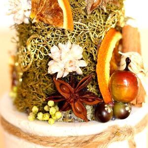 プリザーブドフラワー ホワイトポットのクリスマスツリー lpm0104 イメージ3