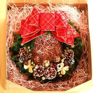 赤いリボンと木の実の可愛いクリスマスリース lpm0107 イメージ4