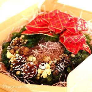 赤いリボンと木の実の可愛いクリスマスリース lpm0107 イメージ5