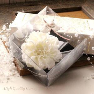 入学式・卒業式・結婚式にピッタリ♪ホワイトのダリアのコサージュ lpm0113 イメージ2