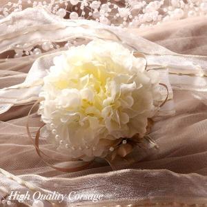 入学式・卒業式・結婚式にピッタリのラナンキュラスとパールのコサージュ|littleangel