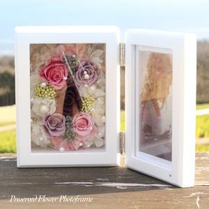 木製フォトフレームパープル系ローズシンフォニー 誕生日 敬老の日 結婚祝い  lpm0115 イメージ5