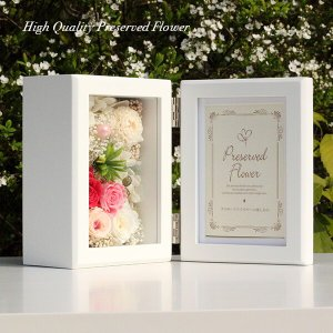 木製フォトフレームプリザーブドフラワーの贈り物「FOR YOU」 あなたのために贈ります。lpm0117 イメージ2