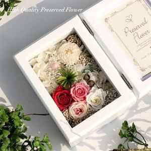 木製フォトフレームプリザーブドフラワーの贈り物「FOR YOU」 あなたのために贈ります。lpm0117 イメージ3