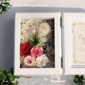 木製フォトフレームプリザーブドフラワーの贈り物「FOR YOU」 あなたのために贈ります。lpm0117 イメージ4