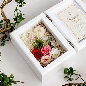 木製フォトフレームプリザーブドフラワーの贈り物「FOR YOU」 あなたのために贈ります。lpm0117 イメージ5