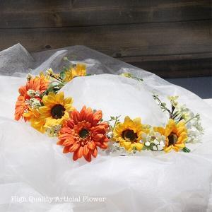 ガーベラとひまわりの花冠 lpm0122 イメージ2
