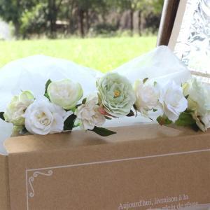 Happy Wedding ふんわりホワイトローズの花冠 イメージ5