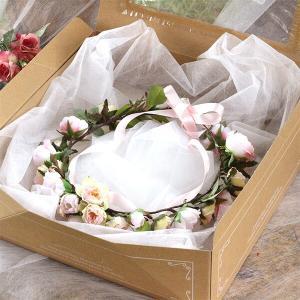Happy Wedding  ふんわりピンクローズの花冠  イメージ4