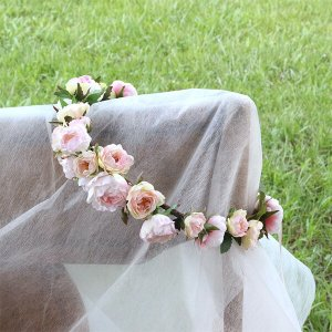 Happy Wedding  ふんわりピンクローズの花冠  イメージ5
