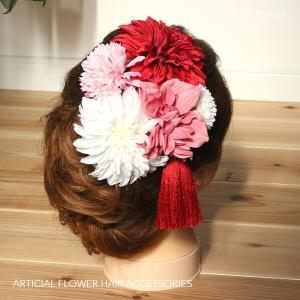 和スタイル赤とピンクの髪かざり イメージ1