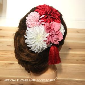 和スタイル赤とピンクの髪かざり イメージ2