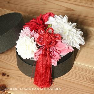 和スタイル赤とピンクの髪かざり イメージ3