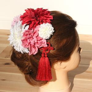 和スタイル赤とピンクの髪かざり イメージ4