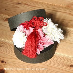 和スタイル赤とピンクの髪かざり イメージ5